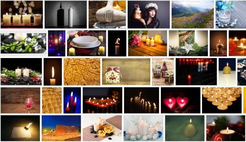 Candlelight stock photos